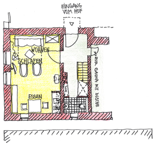 Grundriss Dachgeschoss.